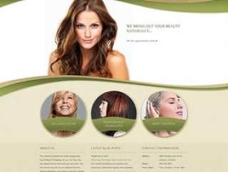 经典国外女子发型设计网站PSD分层素材
