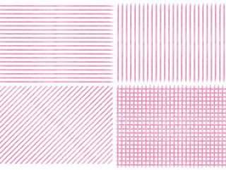 蜡笔风格风格手写的条纹检查模式