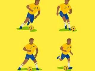 巴西足球字符矢量