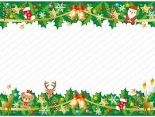圣诞节装饰品的背景
