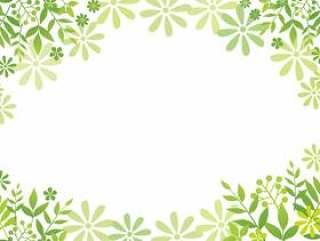叶子和花瓣的绿色背景