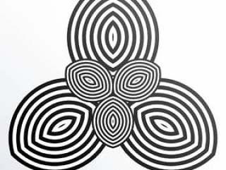 抽象的最小形状矢量背景