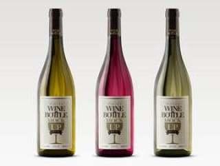 Psd白葡萄酒瓶型