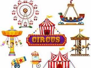 马戏团和节日元素