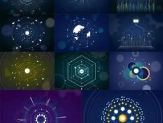 11款数据可视化办公商务信息高科技元素AI矢量概念设计矢量素材AI源文件打包下载