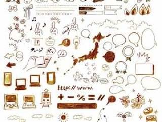 手写的少女图标说明材料集