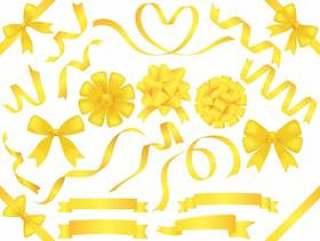 一套什锦黄丝带。