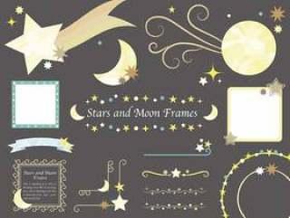 月亮和星星的框架