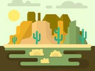 西部沙漠景观