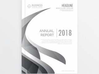 时尚的商业杂志封面年度报告的页面模板