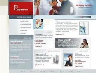 商务科技类网站模板PSD