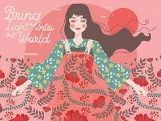 国际妇女节的插图2矢量