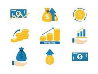 收入图标矢量