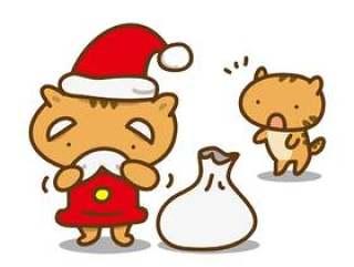 做圣诞老人服装的猫
