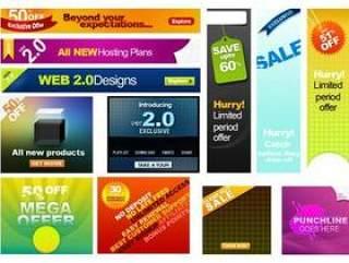 web2.0网页广告模板psd分层素材