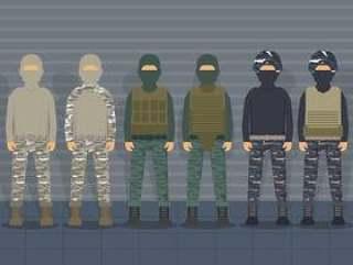 美国海军陆战队士兵统一矢量包