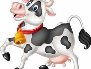 背景动画片母牛愉快的查出的白色