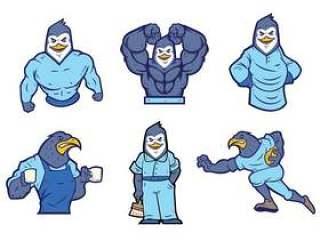 企鹅吉祥物传染媒介