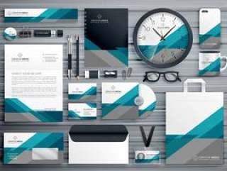 用几何形状做的专业企业文具设计
