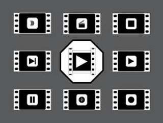 老式无声电影黑色和白色