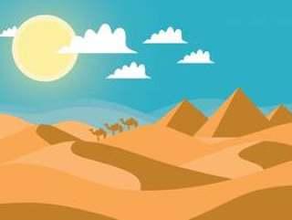 沙漠景观矢量