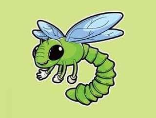 蜻蜓昆虫吉祥人