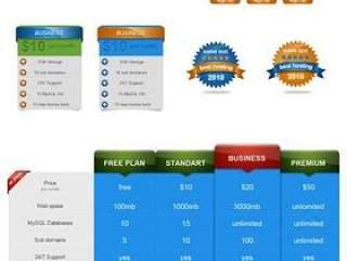 两款实用的网页元素PSD素材