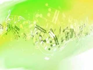 关于水彩纹理的抽象音乐笔记