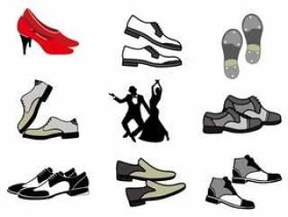 有跳舞的人传染媒介的 踢踏舞鞋