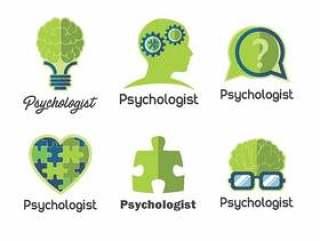 心理学家徽标矢量包