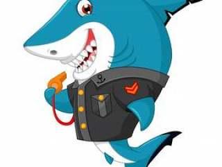 鲨鱼卡通插图