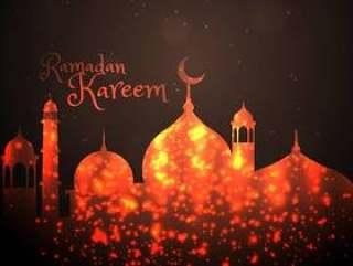 用闪闪发光做的创造性的清真寺设计