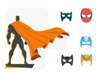 强大的超级英雄矢量
