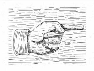 手绘矢量手图
