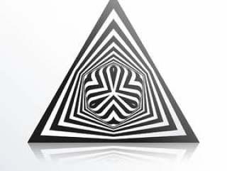 用黑色线条背景做的抽象三角形状