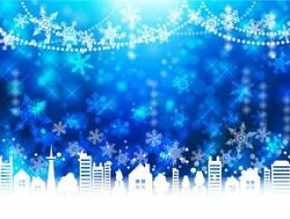 圣诞节街道框架蓝色