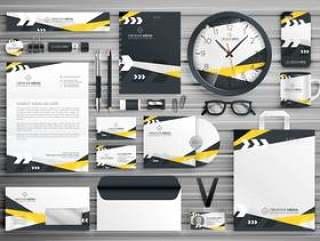 企业形象文具模板设计设置与抽象