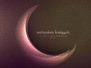 美丽的斋月和eid节日闪亮的月亮