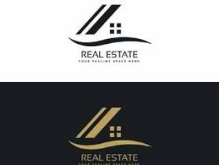 房子的标志设计概念向量