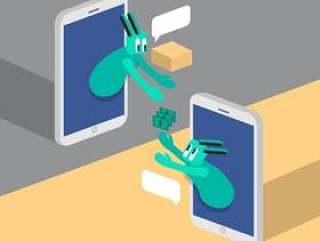 社交媒体的插图