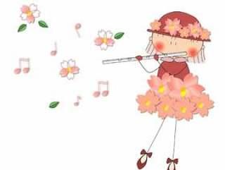 仪器 - 1。女孩_ flower_sakura - 仪器 - 1