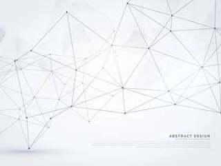 抽象的数字线框多网格背景设计