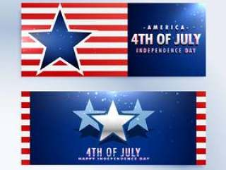 美国独立日横幅