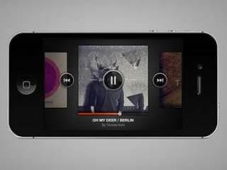 iphone music player—psd分层素材