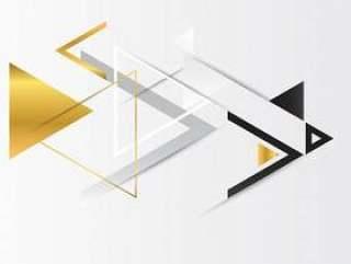 与三角的抽象金几何背景。