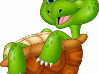 动画片愉快的乌龟放松