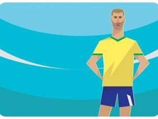 巴西足球字符传染媒介