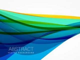 抽象的蓝色波浪背景矢量