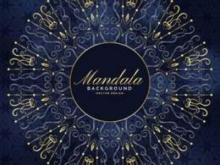 时尚的曼荼罗艺术在优质设计中