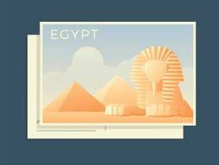 世界埃及传染媒介的明信片